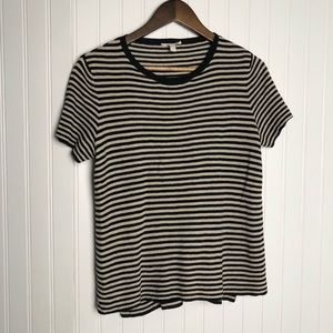 Eileen fisher stripe scoop neck short sleeve Shirt